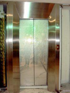 Auto Center Opening Elevator Door Image